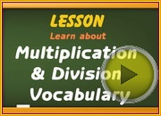 Multiplication Division Vocabulary video
