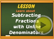 Subtracting Fractions with Unlike Denominators video