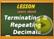 Terminating and Repeating Decimals video