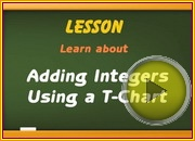 Adding integers using T chart video