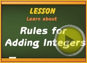 Adding integers using rules video