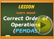 Correct Order of Operations PEMDAS video