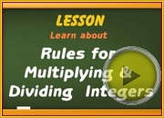 Multiplying Dividing integers using rules video