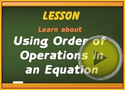 Order of Operations in Equation video