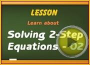 Solving 2 step Equation2 video