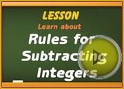 Subtracting integers using rules video