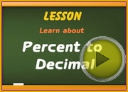 Percent to Decimal video