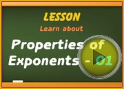Properties of Exponents 01 video
