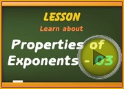 Properties of Exponents 03 video