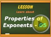 Properties of Exponents 05 video