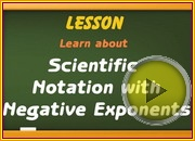 Scientific Notation Negative Exponents video