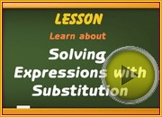 Solving Expressions with Substitution video
