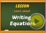 Writing Equations video
