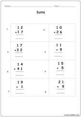 Sum up worksheets 2