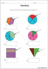 Fractions circles squares
