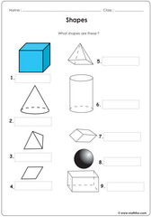 Geometry shapes cones cubes