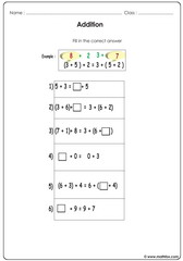 Addition and balancing equations