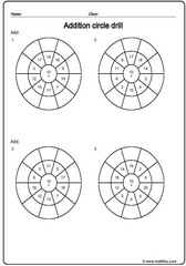 Addition circle drill sheet 1