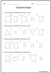 Congruent shapes