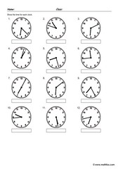 Telling time on clocks