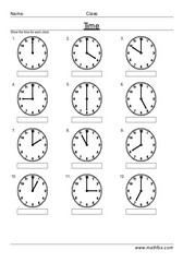 Time hours past