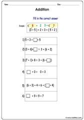 Addition and balancing equation