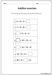 Addition balance equations
