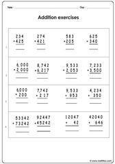 Addition of 2 3 digit numbers