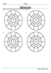 Subtraction circle drill