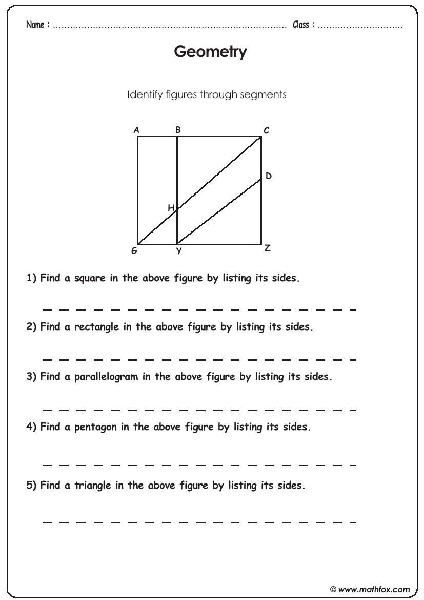 Geometry identifying segments
