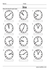 Telling time roman numeral clocks