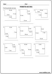 l shapes perimeter area