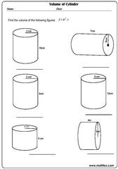 Volume of cylinder