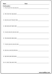 Mixed decimal number patterns