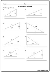 Triangle sides pythagorean theorem 1