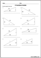 Triangle sides pythagorean theorem 2