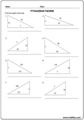 Triangle sides pythagorean theorem 7