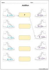 addition shoe match