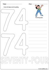 Number 74 Worksheet