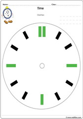 Analogue clock face worksheet