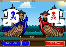 Algebra pirate game