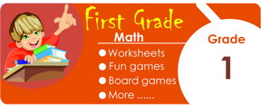 1st grade math worksheets, games, tests, quizzes, board games, card games