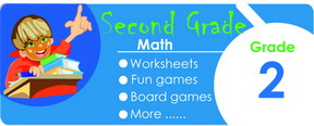 2nd grade math worksheets, games, tests, quizzes, board games, card games