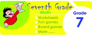 7th grade math worksheets, games, tests, quizzes, board games, card games