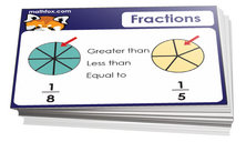 1st grade fractions card games for children in grade 1. PDF printable