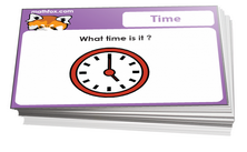 1st grade time facts card games for children in grade 1. PDF printable