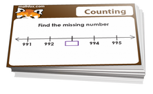 2nd grade counting and numbers cards - Math board game in PDF printable format