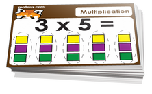 2nd grade multiplication and division card game - Math card game in PDF printable format
