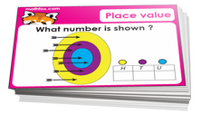 2nd grade place value card game - Math card game in PDF printable format