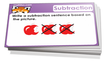 2nd grade subtraction card game - Math card game in PDF printable format